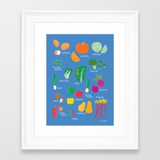 What's in the Kitchen?  - Vegetables Framed Art Print