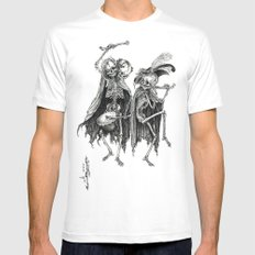 Danse Macabre (variation) White SMALL Mens Fitted Tee