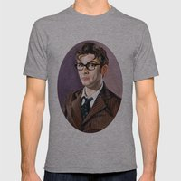 The Tenth Doctor Mens Fitted Tee Athletic Grey SMALL
