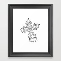 HollyCross Sketch Framed Art Print