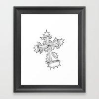 HollyCross Sketch Framed Art Print
