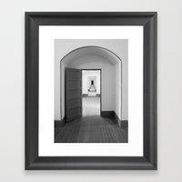 Through The Doors Framed Art Print