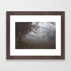 horse in the fog pt 2 Framed Art Print