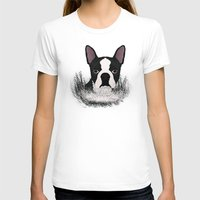boston T-shirts featuring Boston terrier by Nir P