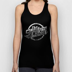 The Strokes Logo New York Black And White Unisex Tank Top