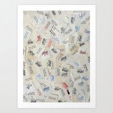 Vintage Postal Ephemera - Mr. Zip Art Print