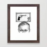 ti guardo e mi vedo in te... #2 Framed Art Print