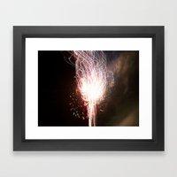 fireworks tracer Framed Art Print