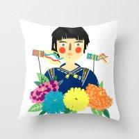 Flower Kite Throw Pillow