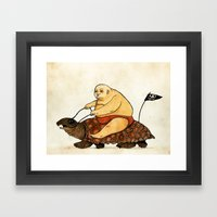 Lazy Tarzan Framed Art Print