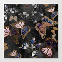 Cosmic Butterflies Canvas Print