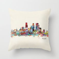 Minneapolis Minnesota skyline Throw Pillow