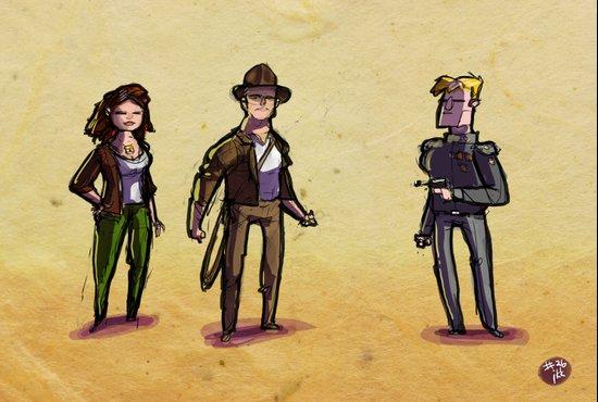 Use Verb on Noun #26: Indiana Jones and The Fate of Atlantis Art Print