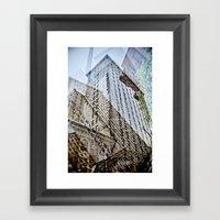 Trippy Kentucky Towers. Framed Art Print