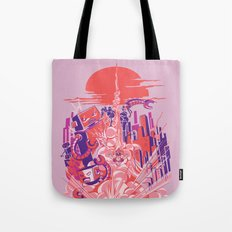 Smash! Zap!! Zooom!! - Big-Boobed Babe Tote Bag