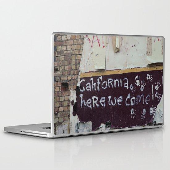 off to galifornia... Laptop & iPad Skin