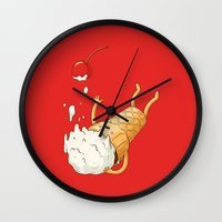 Ice Cream Fall Wall Clock