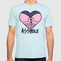 Asshole (Part II) Mens Fitted Tee Light Blue SMALL