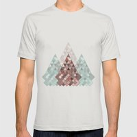 04 Mens Fitted Tee Silver SMALL