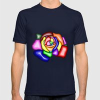 Rose Mens Fitted Tee Navy SMALL