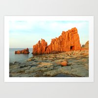 Red Rocks of Arbatax - Italy Art Print