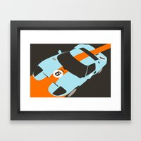 Orange Notch - Ford GT40… Framed Art Print