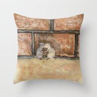 Afraid (Embrace) Throw Pillow