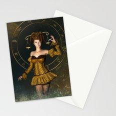 Libra zodiac sign Stationery Cards