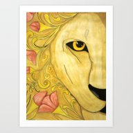 KING OF THE FLOWERS Art Print