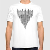 Feather Shield Mens Fitted Tee White SMALL