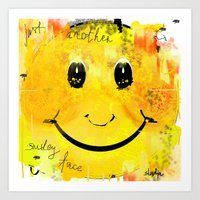 Just another smiley face Art Print