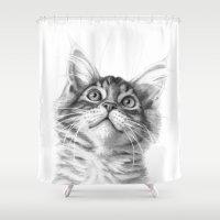 Kitten Looking Up G115 Shower Curtain