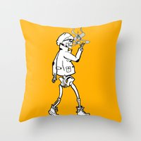 Dead, before it was cool Throw Pillow