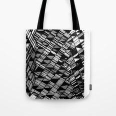 Moving Panes Black & White Tote Bag