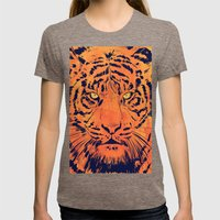 Tiger Womens Fitted Tee Tri-Coffee SMALL