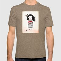 Lady Bird Mens Fitted Tee Tri-Coffee SMALL