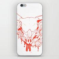 Flower Power Skull iPhone & iPod Skin