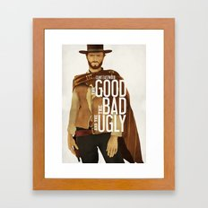 THE GOOD, THE BAD AND THE UGLY Framed Art Print