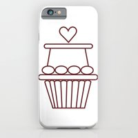 iPhone & iPod Case featuring Cupcake Heart by Stickycake Studio