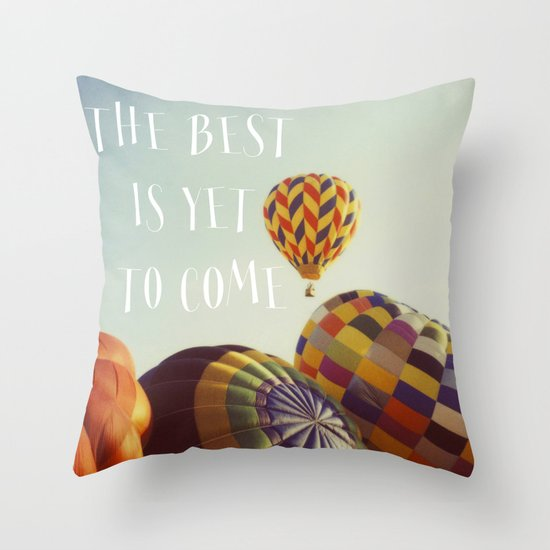The Best - Balloons Throw Pillow