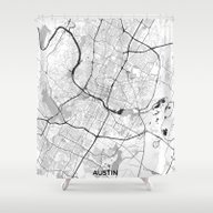 Austin Map Gray Shower Curtain