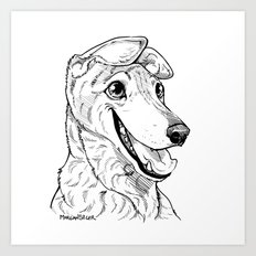 Greyhound Graphic Art Print