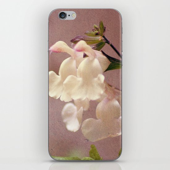 White flower and texture iPhone & iPod Skin