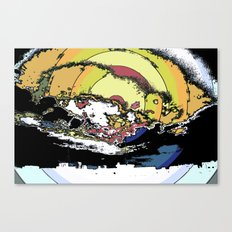 The most epic explosion on the city Canvas Print