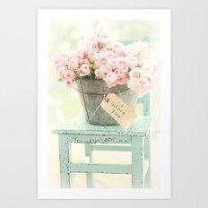 I adore you Art Print
