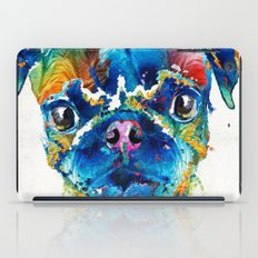 Colorful Pug Art - Smug Pug - By Sharon Cummings iPad Case