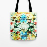 Tote Bag featuring Wibbly wobbly by Tina Carroll