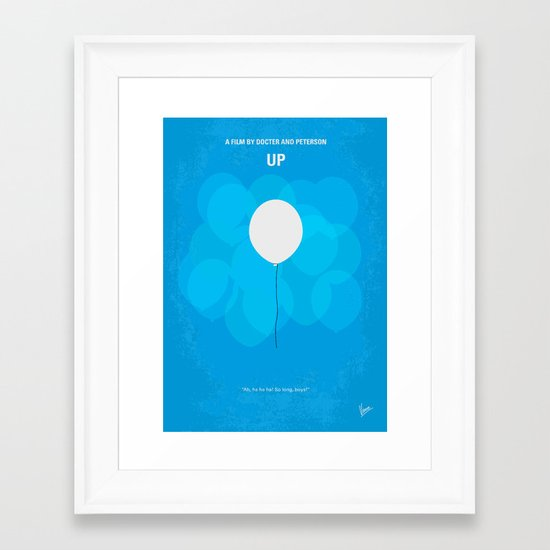 No134 My UP minimal movie poster Framed Art Print