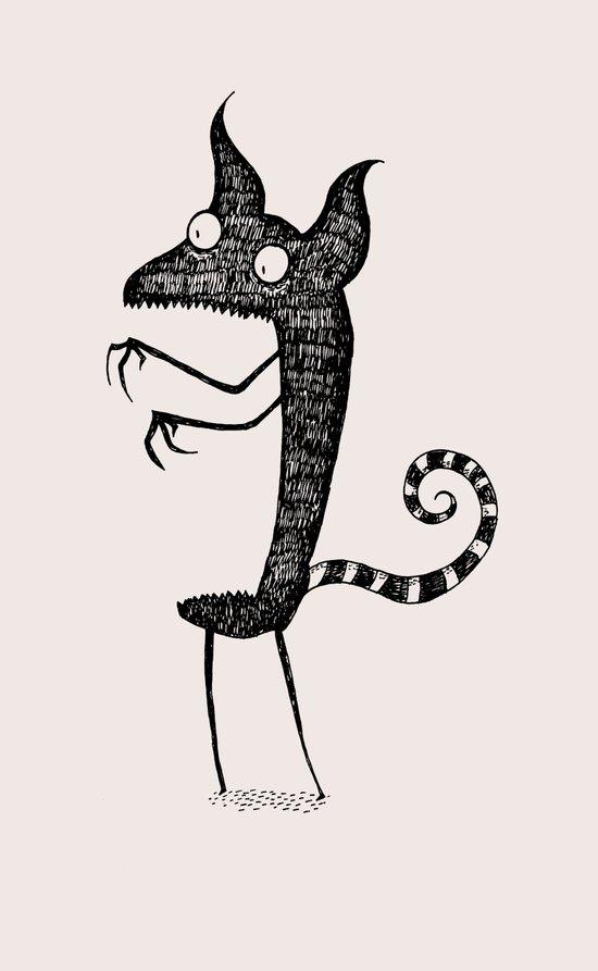Lindsey's Monster Art Print