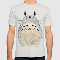 totoro Mens Fitted Tee Silver SMALL